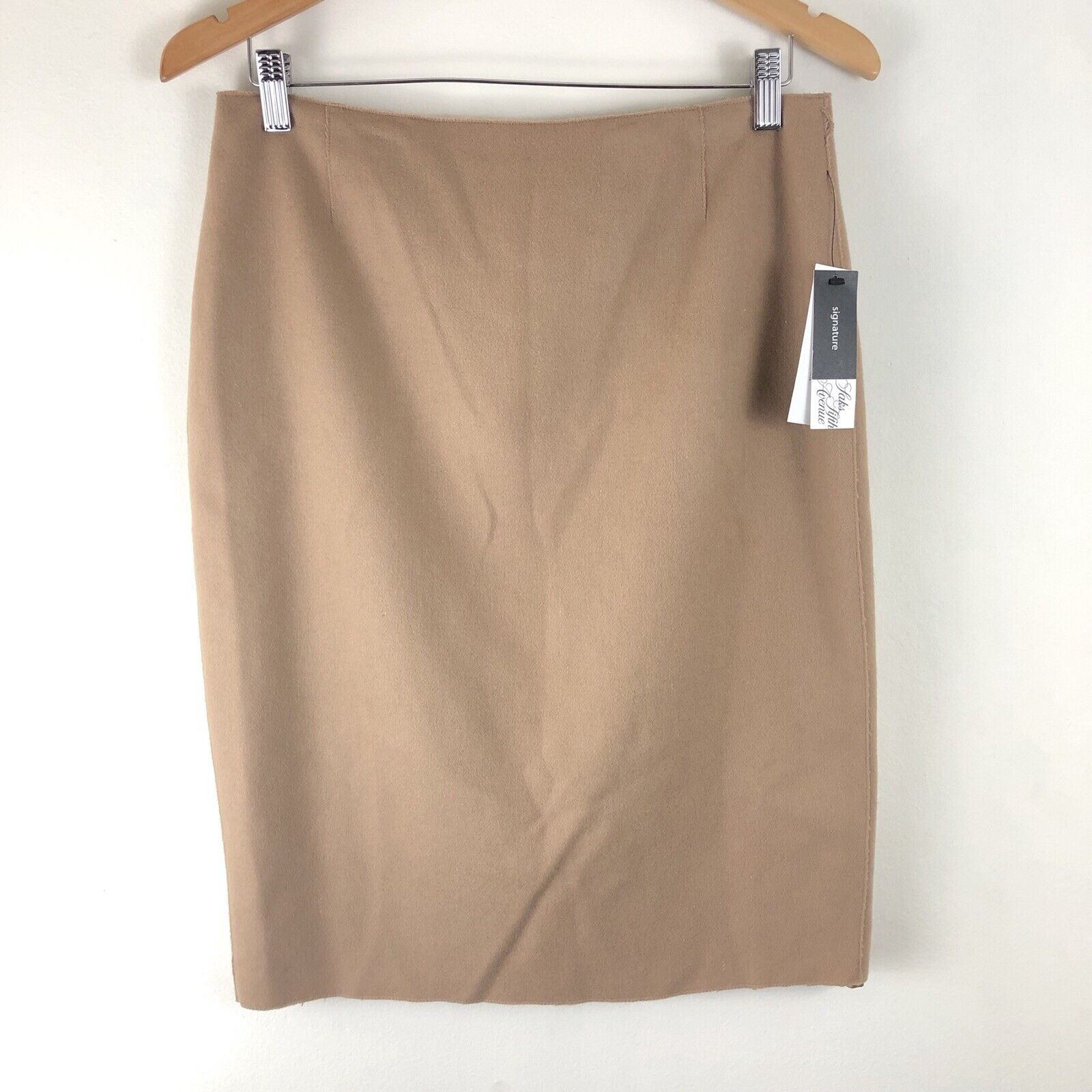 Ny Saks Fifth Avenue 8 Wool Tan Pencil kjol Camel NWT  268 Sidenia kjol