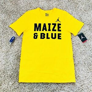 4192d465b2c Image is loading Nike-Air-Jordan-Michigan-Wolverines-Elite-Logo-Maize-