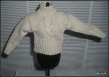 TOP BARBIE DOLL MILLICENT ROBERTS CREAM  LONG SLEEVED SWEATER SHIRT ACCESSORY