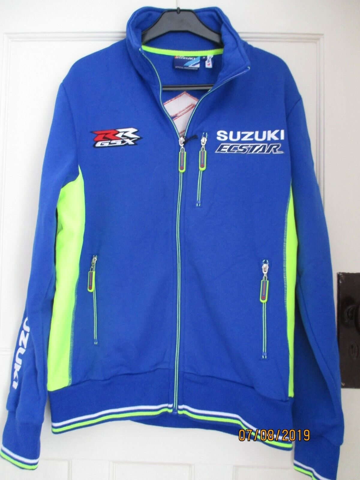 Official Suzuki Moto GP Ecstar Adult Team Blau Jacket Größe S