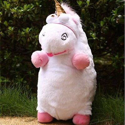 """16"""" inch New Despicable Me Fluffy Unicorn White Soft Plush Doll Fluffy Toy Gift"""