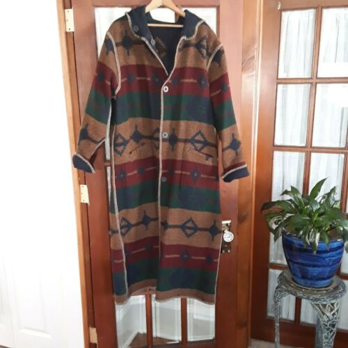 Vintage Woolrich Reversable Hooded Southwest Wool