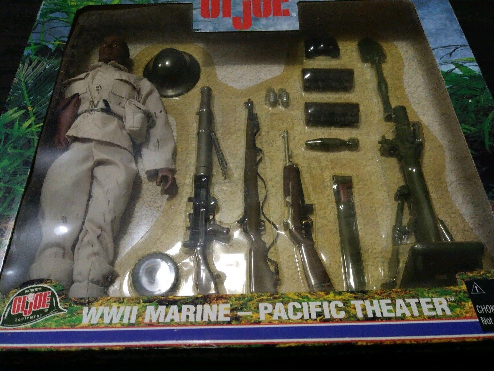 Vintage - gi joe des zweiten weltkriegs marine im pazifik theater w   zubehör misb afroamerikaner
