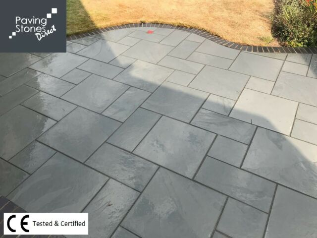 Slate Patio Slabs >> Brazilian Grey Slate Paving Slabs Flags Super Clearance Premium Stone