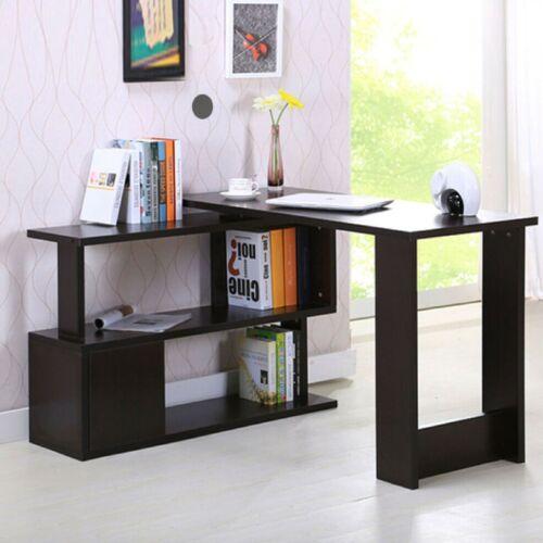 Schreibtisch Bürotisch Computertisch Winkelschreibtisch PC Tisch Bücherregal BU