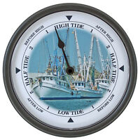 Tide Clock- Miss Caison 261 Nautical Wall Tide Clock - Black Or White Frame