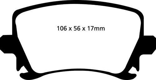 EBC rear brake kit discs /& TAMPONS for audi s3 8p 2.0 Turbo 265 2006-2012