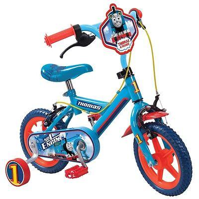 "12"" Thomas & Friends Bike, Kids Training Bicycle with Stabilisers & Chainguard"