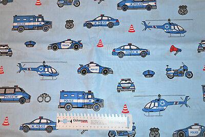 Baumwollstoff Polizei Baumwolle Dekostoff Webware Stoff nähen Kinder