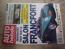 $$t Revue Auto Hebdo N°694 Prost  Williams-Renault FW13  Spa  F 3000  Nice