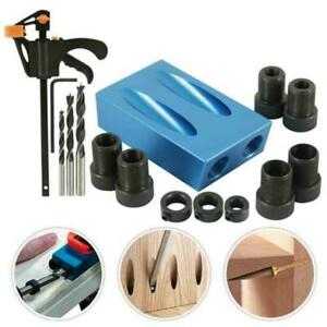 Pocket-Hole-Jig-Kit-15-Angle-6-8-10mm-Adapter-Drill-Guide-Woodworking-Set-Tool