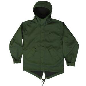 Fred-Perry-Men-039-s-Short-Bonded-Hunting-Green-Parka-Jacket