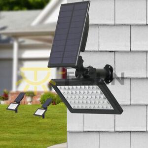 Energia-Solare-50-LED-Spot-Light-Paesaggio-Giardino-Esterno-3000K-LAMPADA-FLOOD-Pathway