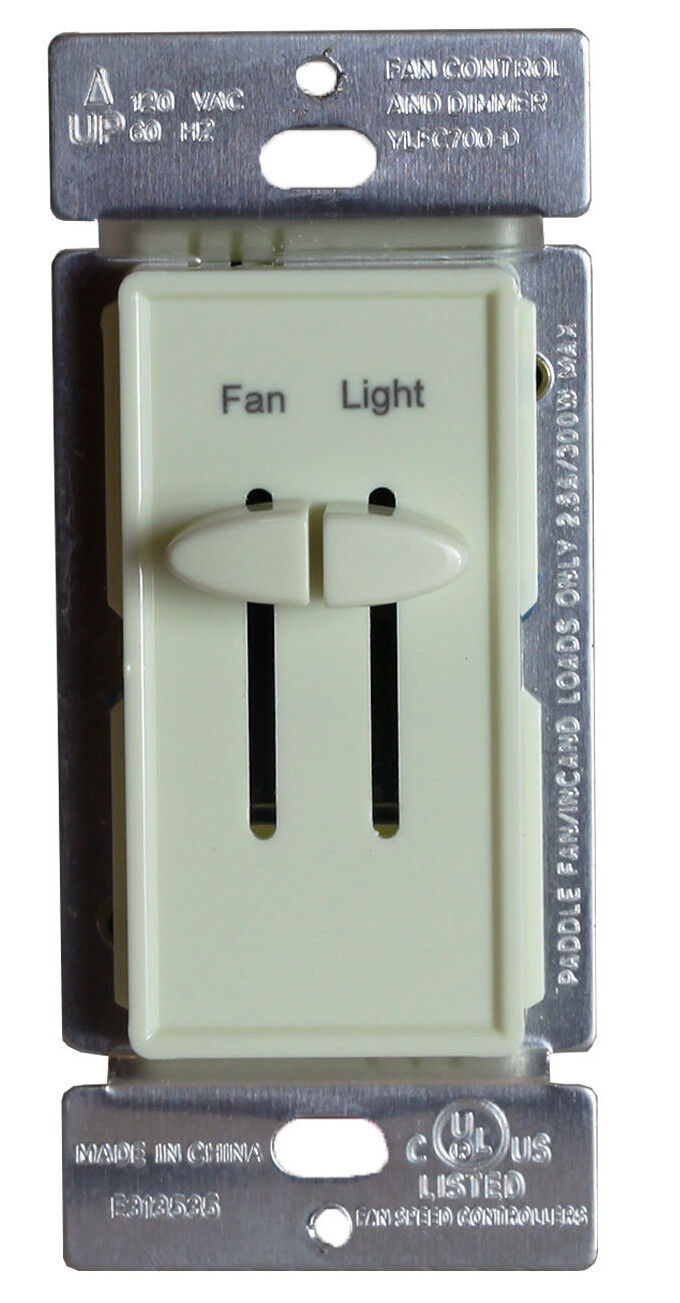 Ceiling Fan Switch Variable Speed Control Amp Light Dimmer