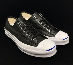 fdc0f7e805ca Image is loading Converse-Jack-Purcell-Signature-Ox-Black-Leather-White-
