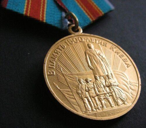 LMD ! RUSSIAN SOVIET MEDAL WW2 CITY-HERO UKRAINE KIEV KYIV 1500 YEARS MEMORIAL