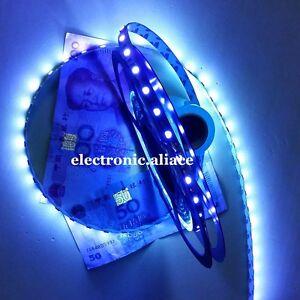 16.4ft 5M UV 395nm 3528 SMD Purple 300 LED Flex Strip Light Waterproof 12V