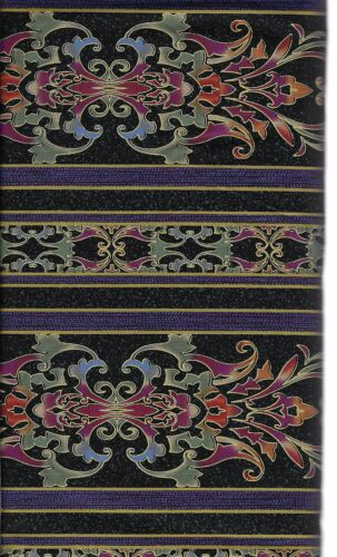 Jinny Beyer Border Streifen dkl bunt Carnival 50x110 cm Patchwork Quilt Stoff