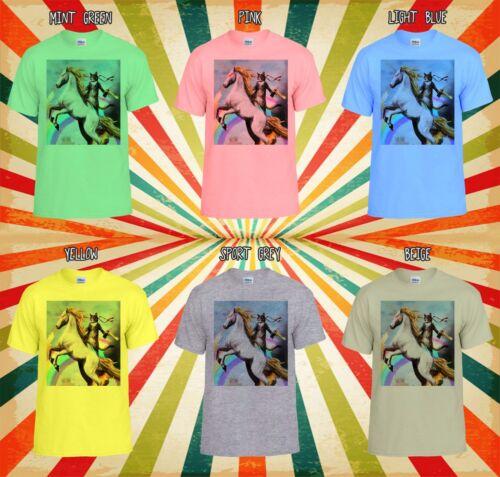 Crazy Cat UNICORN RAINBOW Nouveauté Hommes Femmes Débardeur Tank Top Unisexe T Shirt 1288
