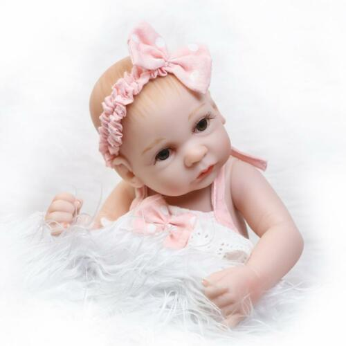 10 inch Mini Reborn Baby Doll Soft Silicone Full Vinyl Realistic Newborn Girl
