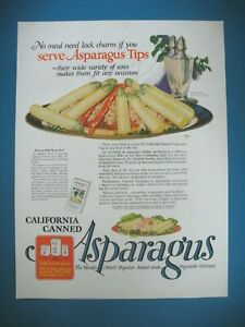 PUBLICITE-DE-PRESSE-ASPARGUS-CALIFORNIA-CANNED-ORIGINAL-VINTAGE-PRINT-AD-1920-039-s