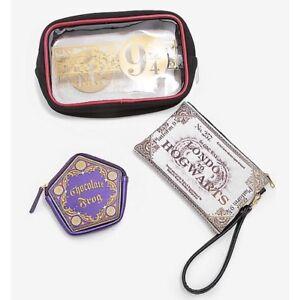 Harry-Potter-3-Piece-Hogwarts-Express-9-3-4-Cosmetic-Makeup-Toiletry-Bag-Set-NWT