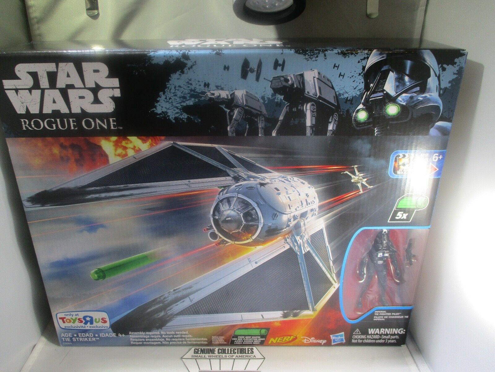 NEW  Star Wars Rogue One TIE STRIKER+Imperial Tie Fighter Pilot Action Figure
