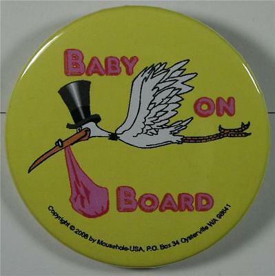 Girl, Pink #08047 Pinback Button Baby on Board