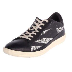 Details about Men Casual Shoes Diesel S-Naptik Leather Sneakers Black White  Y01262 P1133 H1532