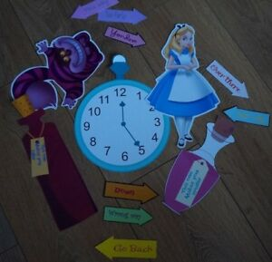 Centrepiece 6 Alice In Wonderland Party Decoration; Props