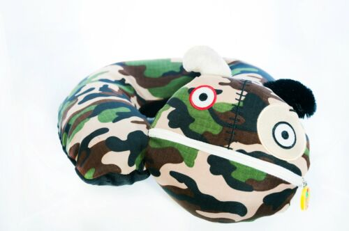 New Monstros CAMOUFLAGE Airheads Inflatable Pump Neck Pillow Child Travel Pillow