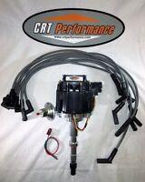 Amc V8 Gm Hei Distributor + Plug Wires 8mm Crt Performance Quality