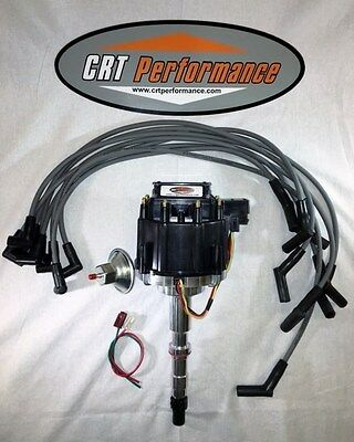 new amc v8 gm hei distributor & plug wires 8mm *crt performance quality*