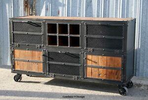 Liquor Cabinet/Bar. Vintage Industrial/Mid Century Modern Style ...