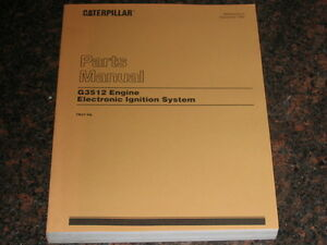 cat caterpillar g3512 engine electronic ignition parts manual s n rh ebay com Caterpillar Brochure Caterpillar Engine Service Manual