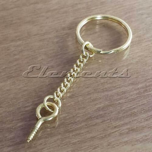 Anneaux en acier solide Split porte-clés /& chaîne couleur or yeux à vis bm093 bm079