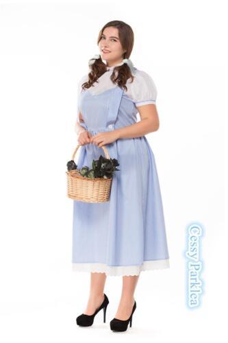Girls Women Wizard of OZ Dorothy Fancy Dress Storybook Fairytale Costume