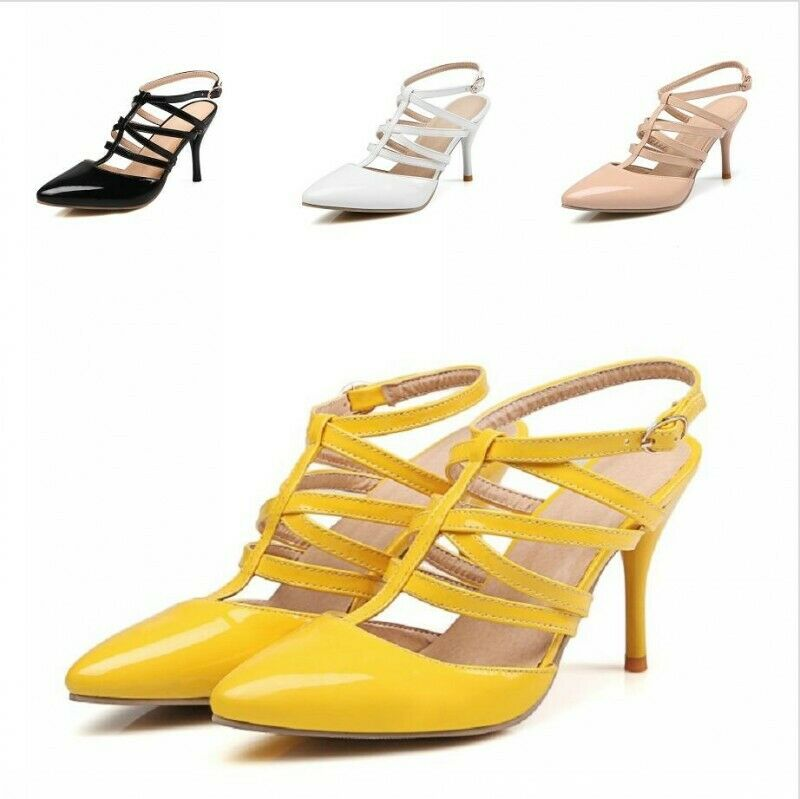 Evening Sexy Women's Slingbacks shoes Pumps High Heels Synthetic Leather Sandals