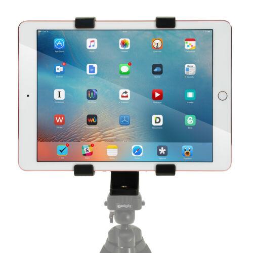 "Tablet Holder Mount Bracket 1//4 Thread Adapter for Tripods Fits 7/"" 10/"" Tablets"