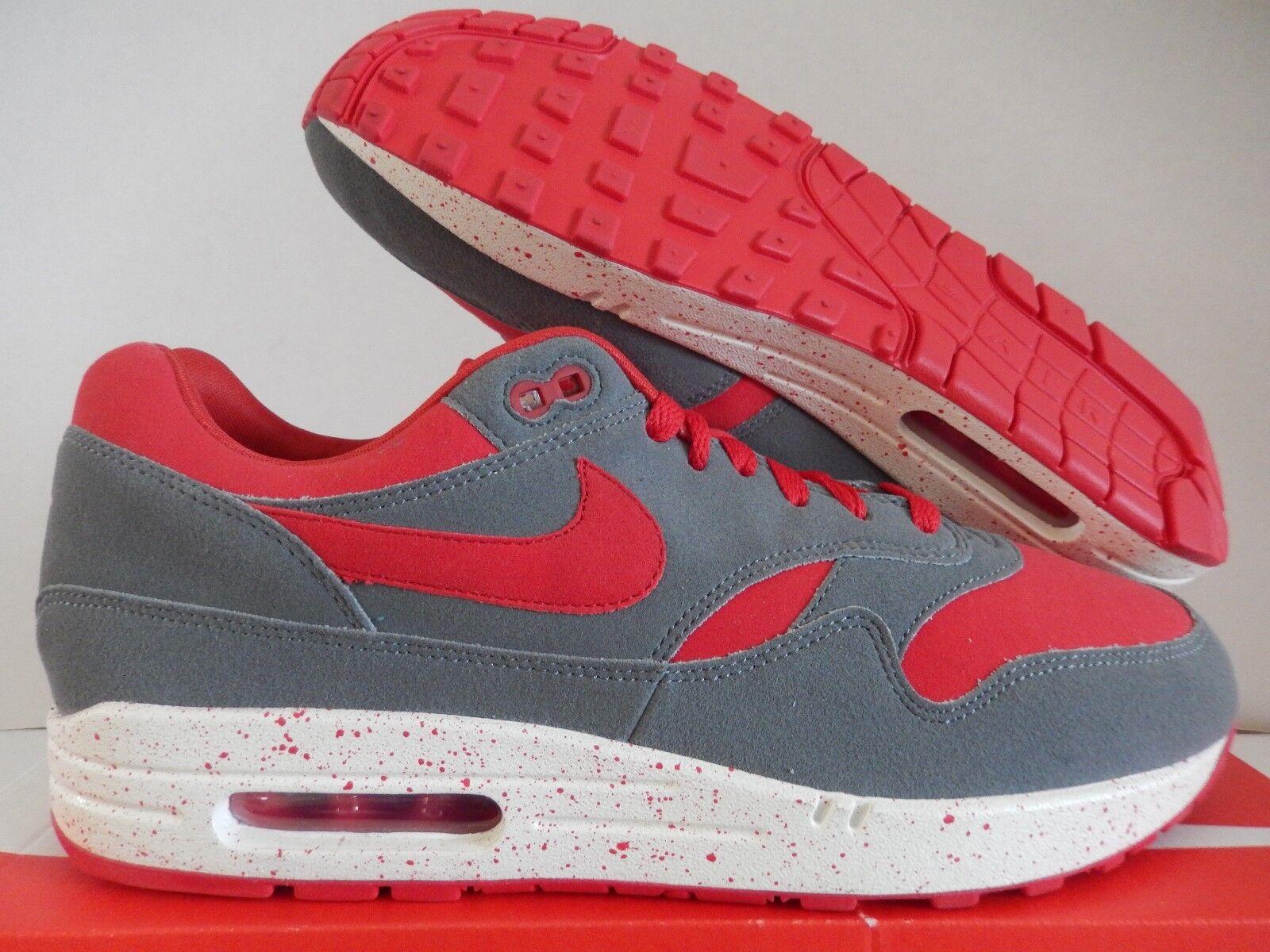 Nike id air max 1 id Nike cool Grau-ROT-Weiß sz 11 [943756-971] b06014