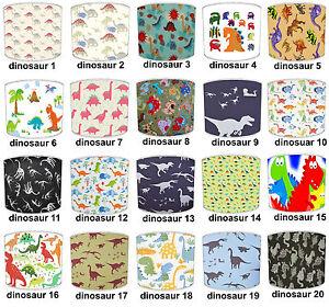 Pantallas-de-Lampara-Para-Combinar-Dinosaurio-Papel-pintado-Edredon-amp