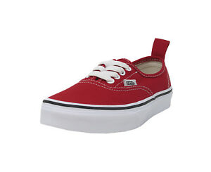 696efed778fa VANS Authentic Elastic Lace Slip On Red Kid Sneakers Boy Girl ...