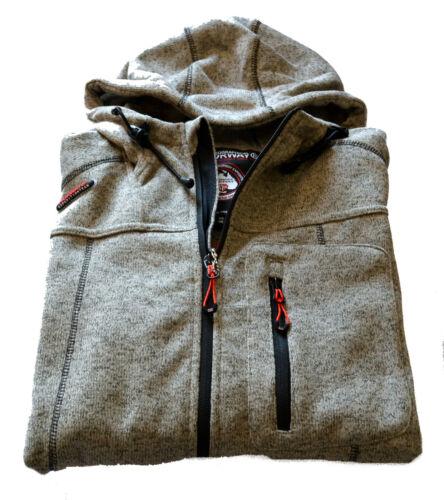 Sweatshirt Geographical Norway Man Men Taxi Full Zip Anapurna Boiled Wool