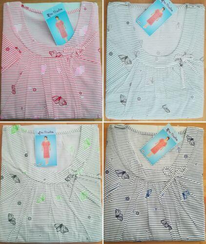 luftig leichtes  Damen Nachthemd 1//2Arm  Baumwollmischung  M  L  XL  XXL  XXXL