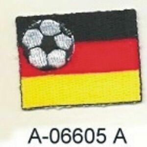 """1 5/8 """" Football Fußball Allemagne Deutschland Drapeau Broderie Patch"""