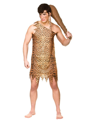 Details about  STD XL Caveman Costume Jungle Cave Man Stag Night Mens Fancy Dress Outfit New