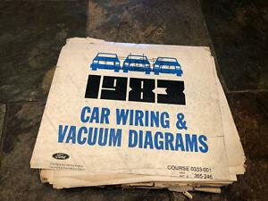 1983 Ford Mustang Capri Lincoln Mark Wiring Diagrams ...