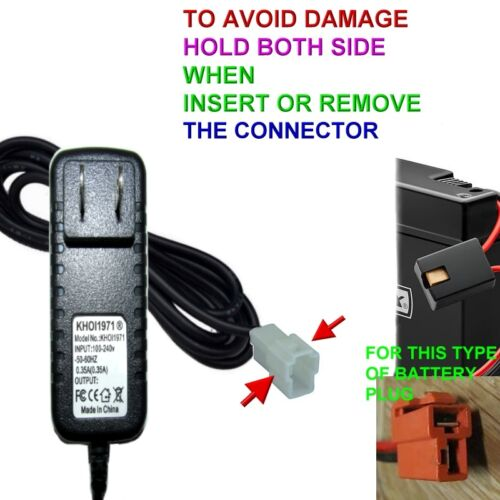 CHARGER AC adapter for KT1014TR KID TRAX Melody Toddler Quad ride on 6V battery