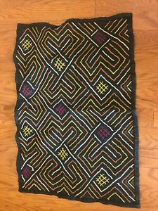 genuine-African-Congo-Kuba-Raffia-cloth-fabric-natural-woven-handmade