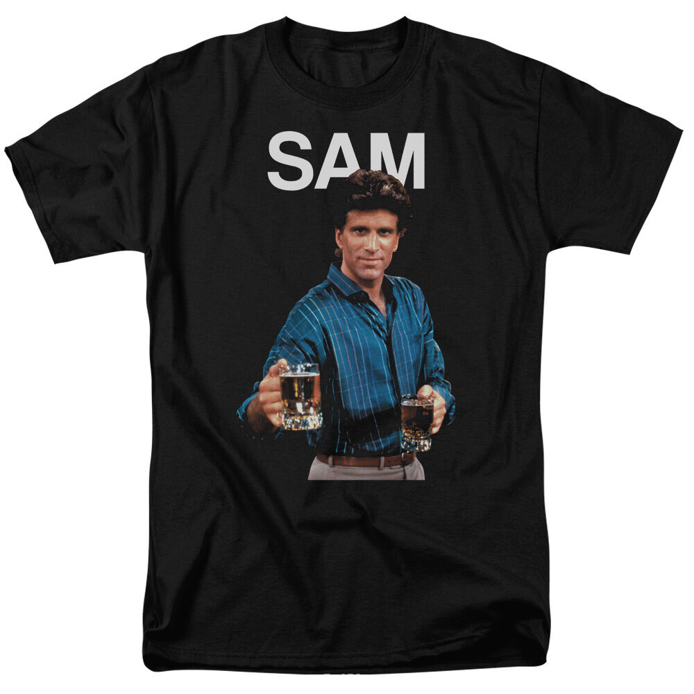Cheers TV Show SAM MALONE Picture Adult T-Shirt All Größes